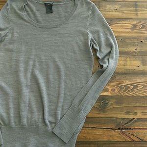 Ann Taylor scoop neck wool-blend long sleeve top